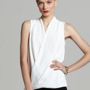 Vince Camuto Draped Front Blouse.